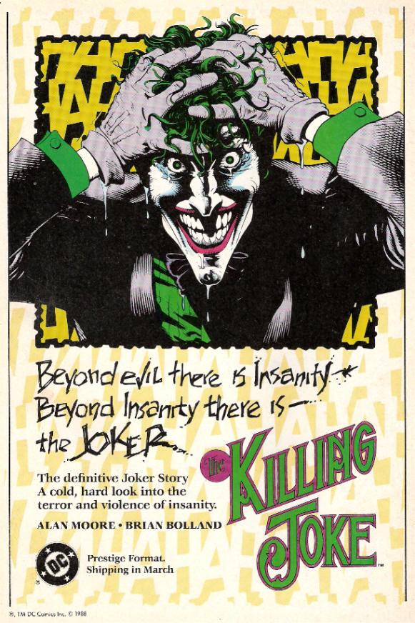 1988 Batman the Joker Killing Joke
