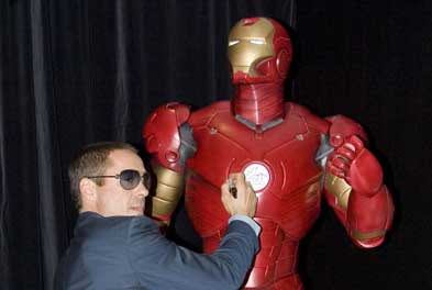 Downey Jr at Australian Iron Man premier