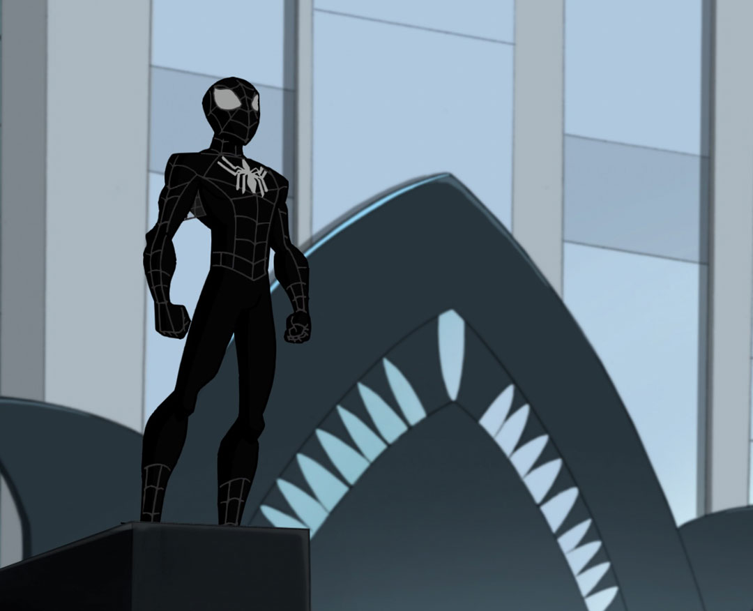Ultimate Spiderman Black Suit In the episode  Spider-Man