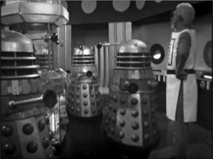 Mavic Chen consults the Daleks in the missing classic