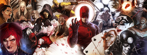 Wraparound cover to Daredevil #500, Brubaker's last
