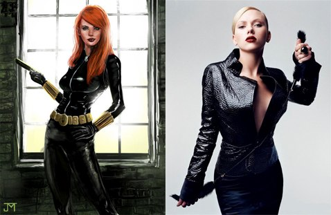Black Widow and actress Johannson