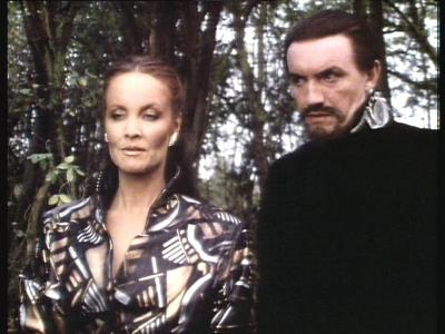 Kate O'Mara as the Rani alongside Anthony Ainley's Master
