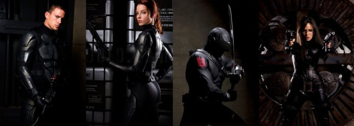 The super sexy cast of G.I. Joe and rubber fetishist Ray Park