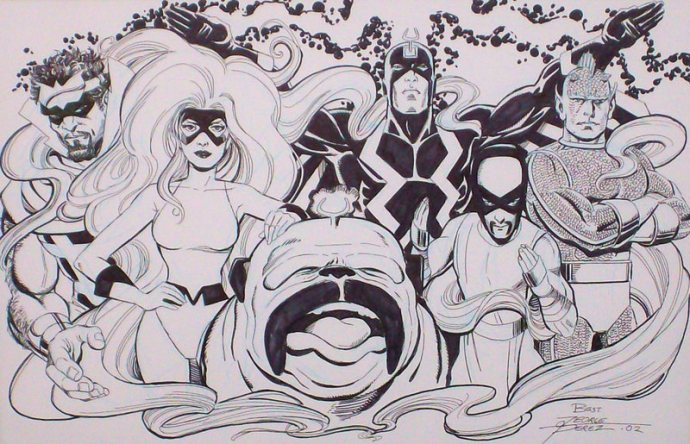 The Inhumans by George Perez