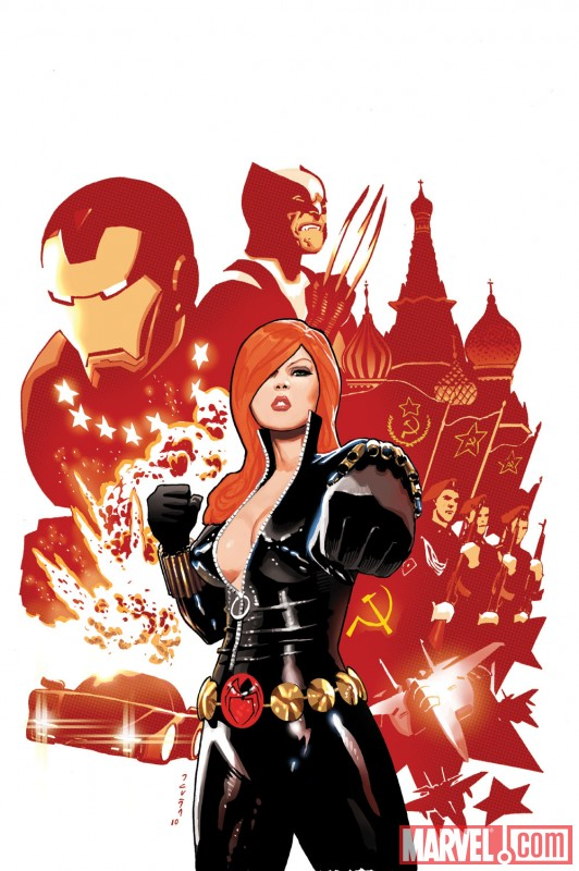 Black Widow#1 cover by Daniel Acuna