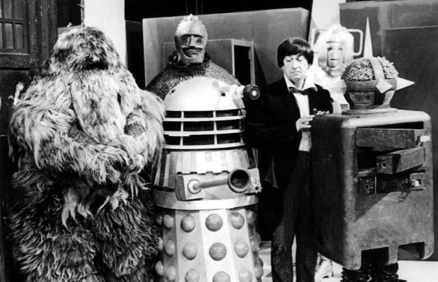 Doctor No. 2 (Patrick Troughton) surrounded by monsters