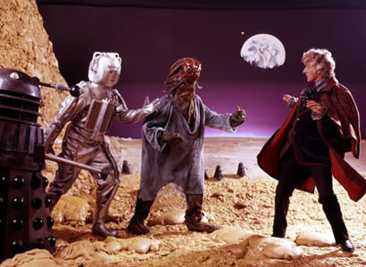 Pertwee with monsters