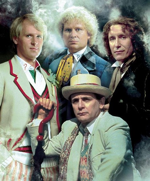 Peter Davison, Colin Baker, Sylvester McCoy and Paul McGann, Doctor Who 5-8