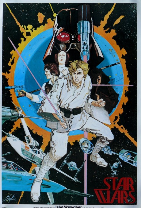 (Vintage Howard Chaykin Star Wars poster)