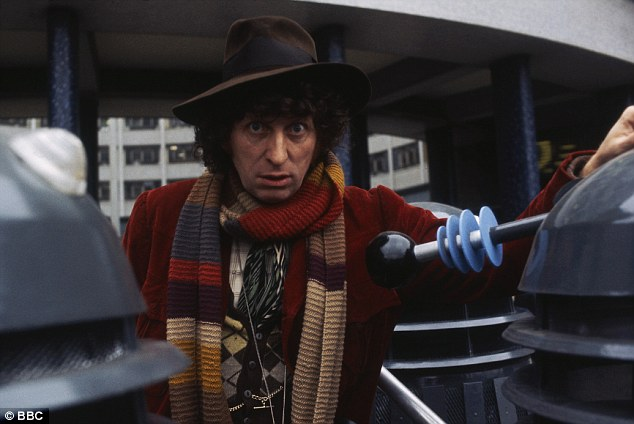 Doctor no. 4 (Tom Baker) with Daleks