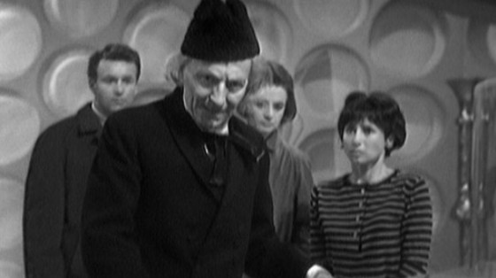 The initial cast from 'An Unearthly Child'