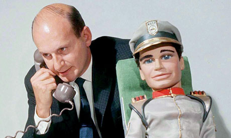 Gerry Anderson With Troy Tempest From '' Stingray'' in 1966