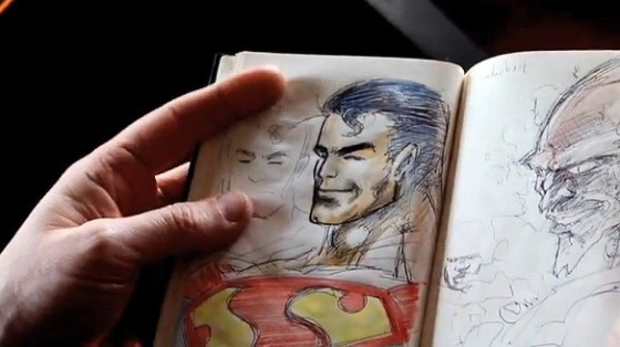 Grant's sketch of Superman