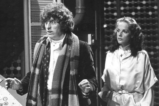 Tom Baker and Mary Tamm recording 1978's The Pirate PLanet