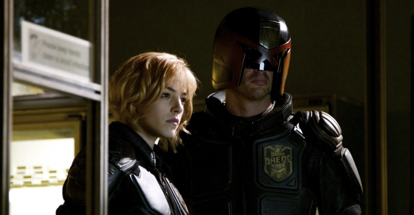 Olivia Thirlby as Judge Cassandra Anderson: and Karl Urban as Judge Dredd