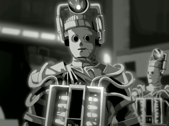 A glimpse of the animated Cybermen from the Tenth Planet DVD