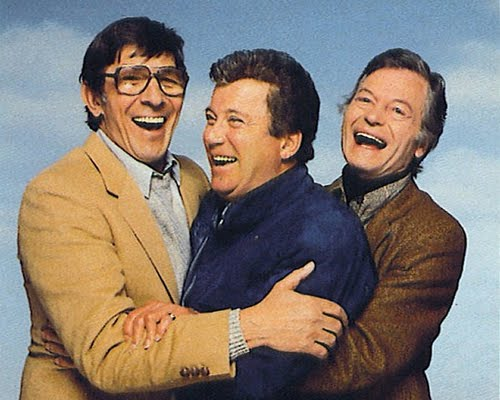 Leonard Nimoy with William Shatner and DeForest Kelley