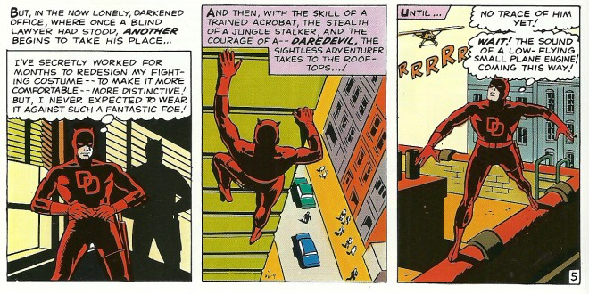 Daredevil as designed by Wally Wood