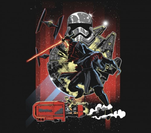 Star Wars VII tee by zerobriant