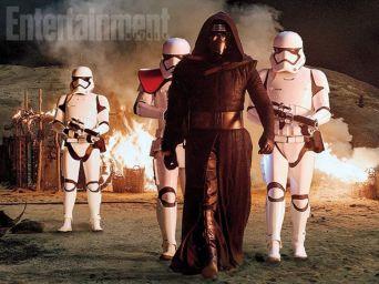Kylo Ren and Stormtroopers